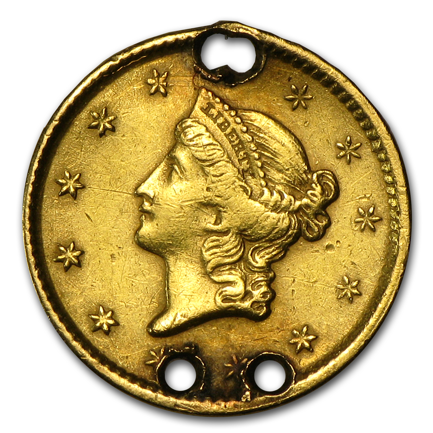 $1.00 Liberty Gold-Type I - No Date Love Token - I G