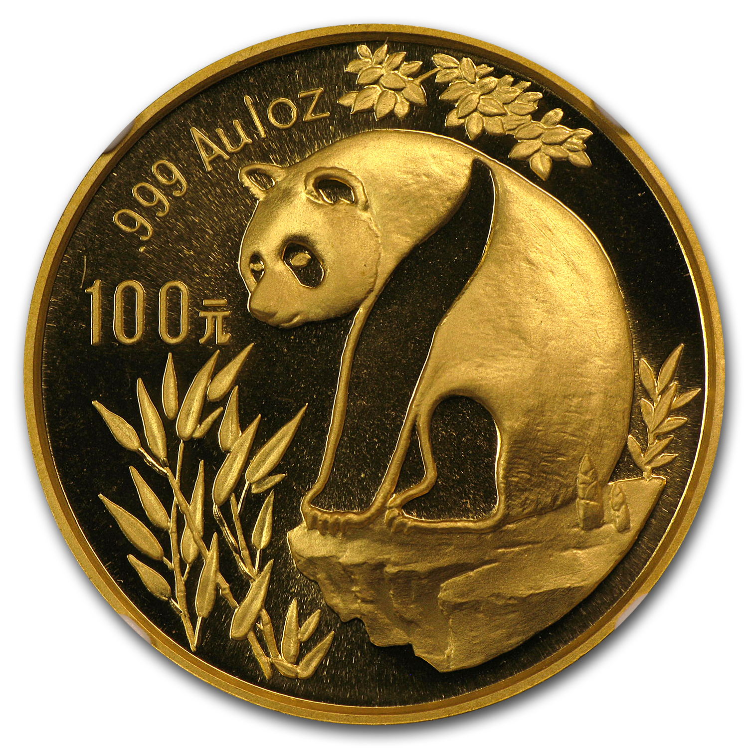 1993 1 oz Gold Chinese Panda MS-69 NGC - Large Date