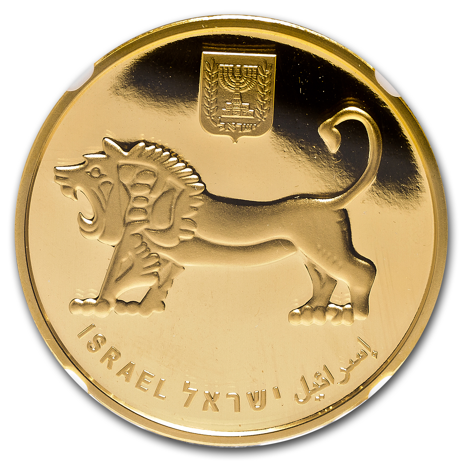 2012 Israel 1 oz Gold Menorah MS-70 NGC