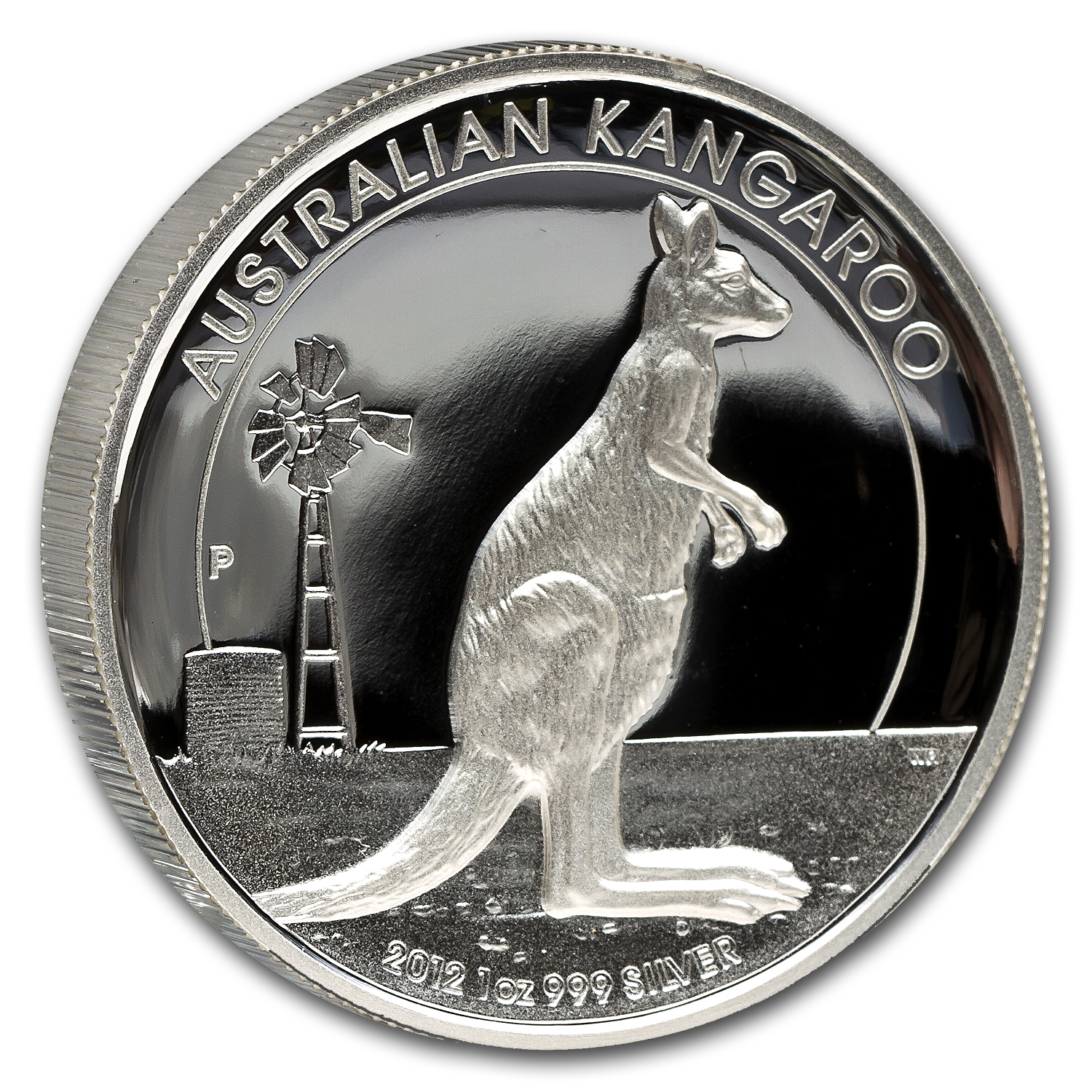 2012 Australia 1 oz Silver Kangaroo Proof (High Relief)