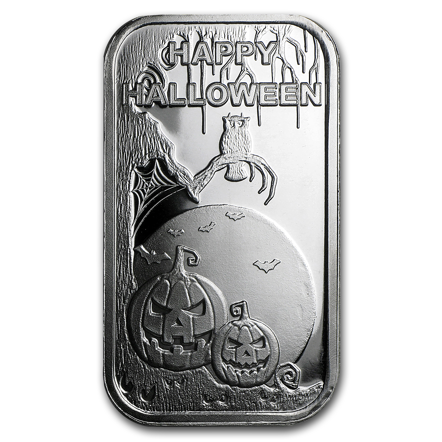1 oz Silver Bar - Happy Halloween (w/Pouch & Capsule)