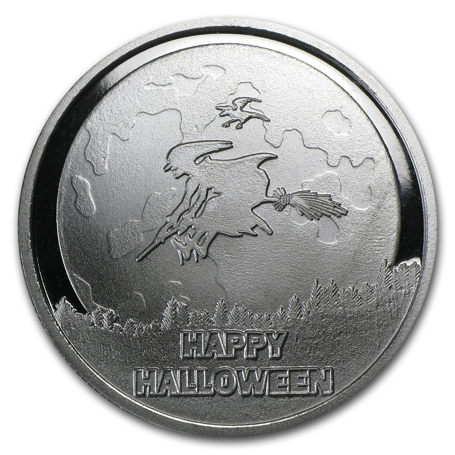 1 oz Silver Round - Happy Halloween (w/Pouch & Capsule)