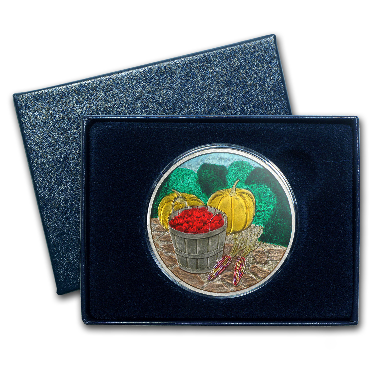 1 oz Silver Round - Harvest (Enameled,w/Box & Capsule)