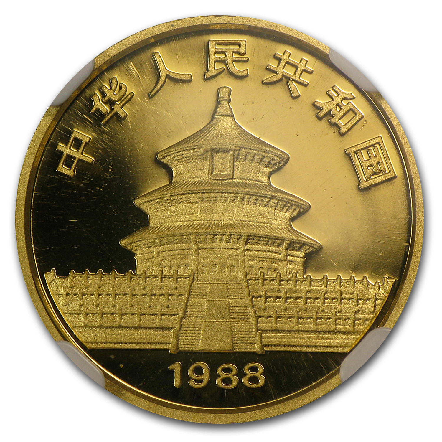 1988 China 1/10 oz Proof Gold Panda PF-68 NGC