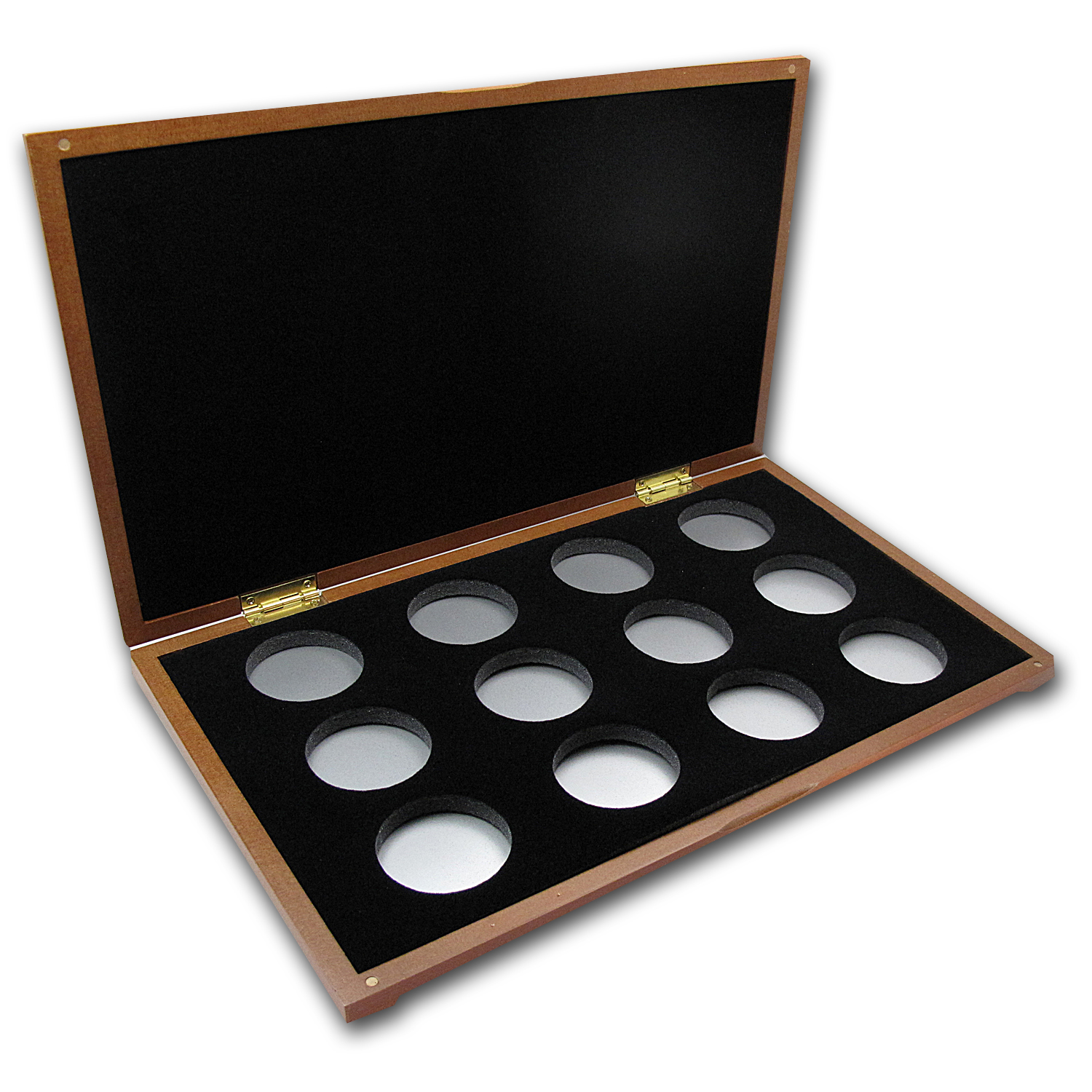 Lunar Series II (1 oz Silver) 12-Coin Wood Presentation Box