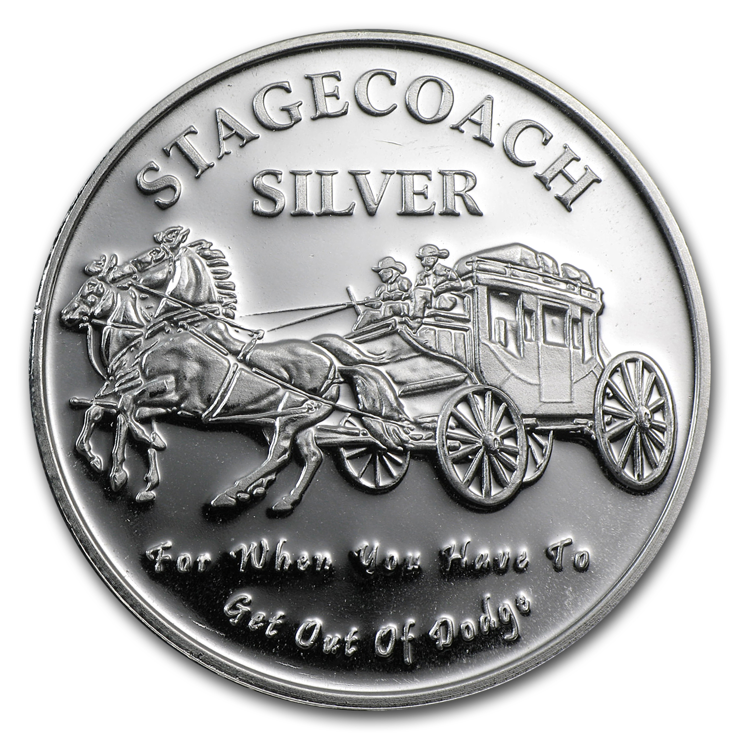 1 oz Silver Round - Stagecoach (Fractional)