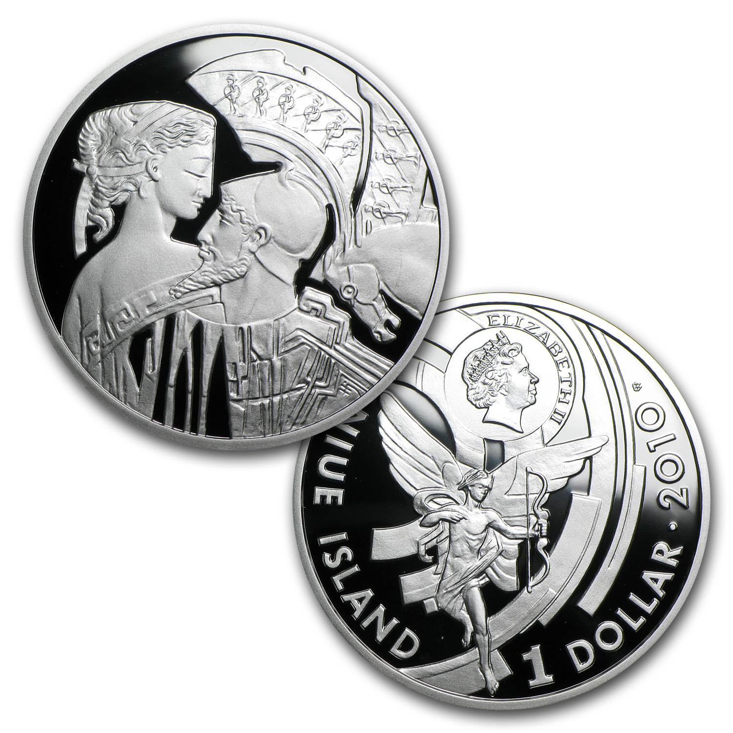 2010 Niue 3-Coin Silver $1 Famous Love Stories Proof Set