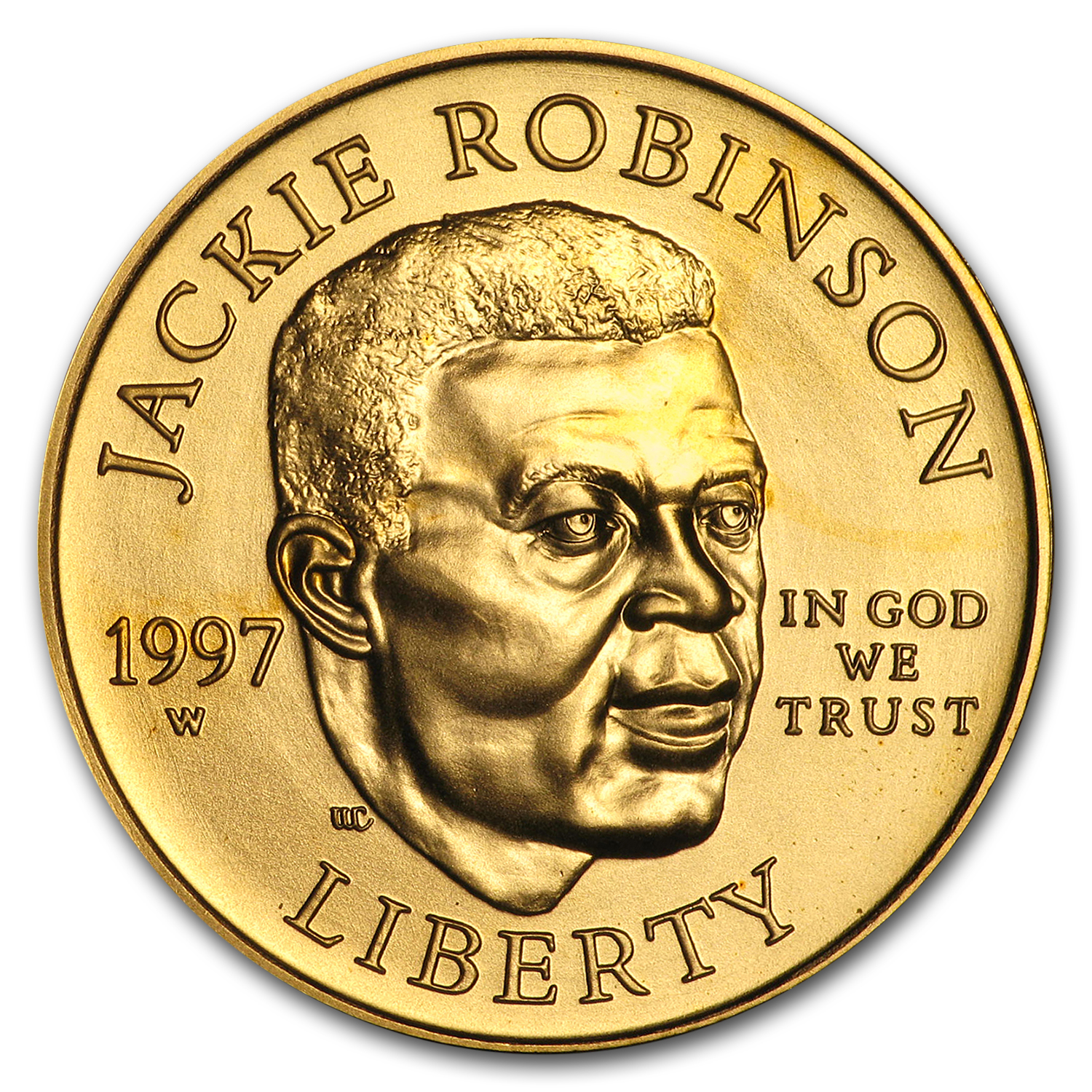 1997-W Gold $5 Commemorative Jackie Robinson BU