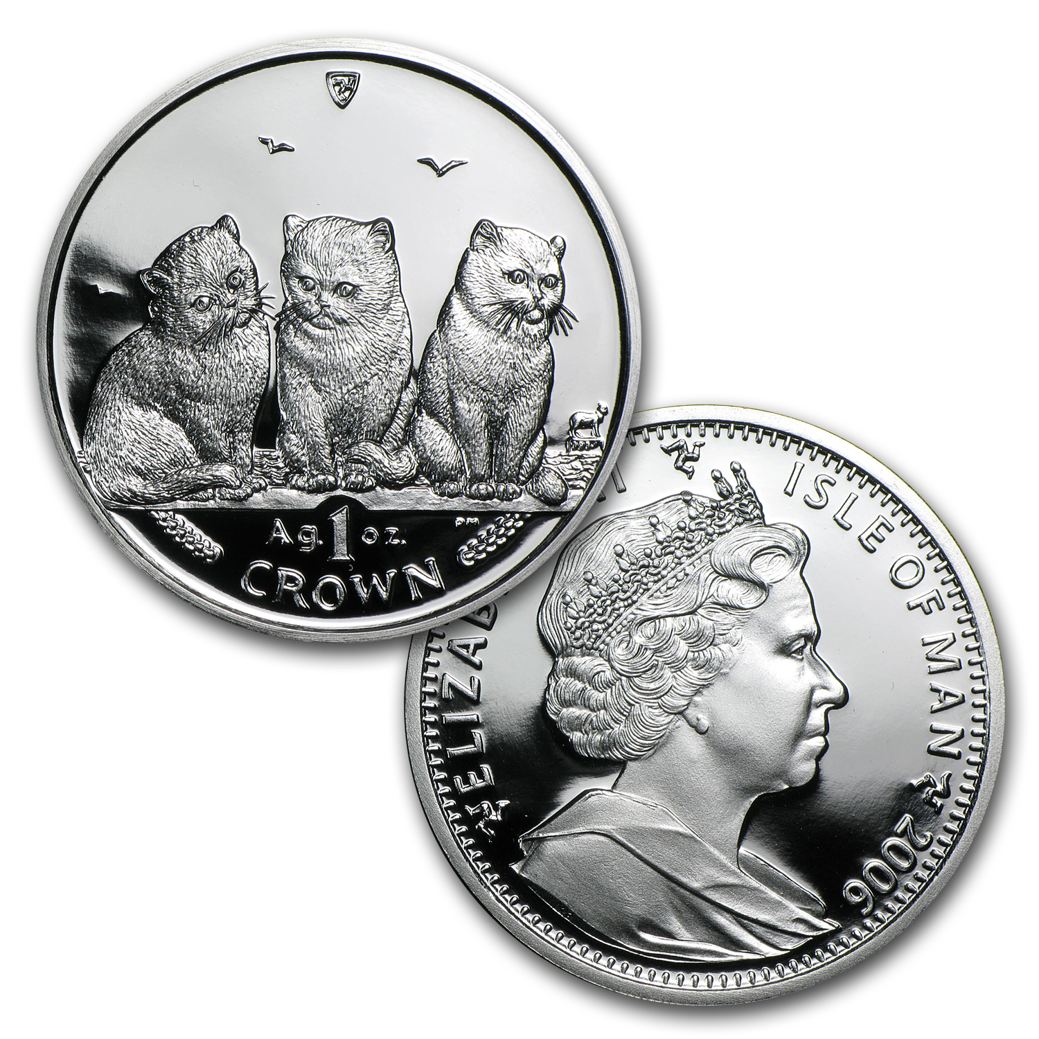 Isle of Man 1 oz Silver Proof Cat Complete 25 Coin Set 1988-2012