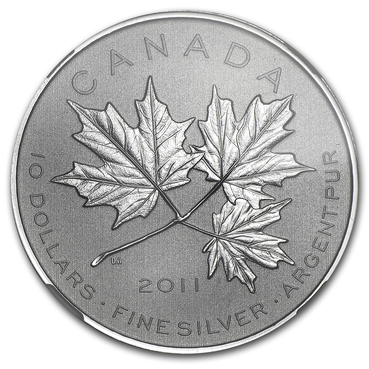 2011 1/2 oz Silver Canadian $10 Maple Leaf Forever NGC SP-69