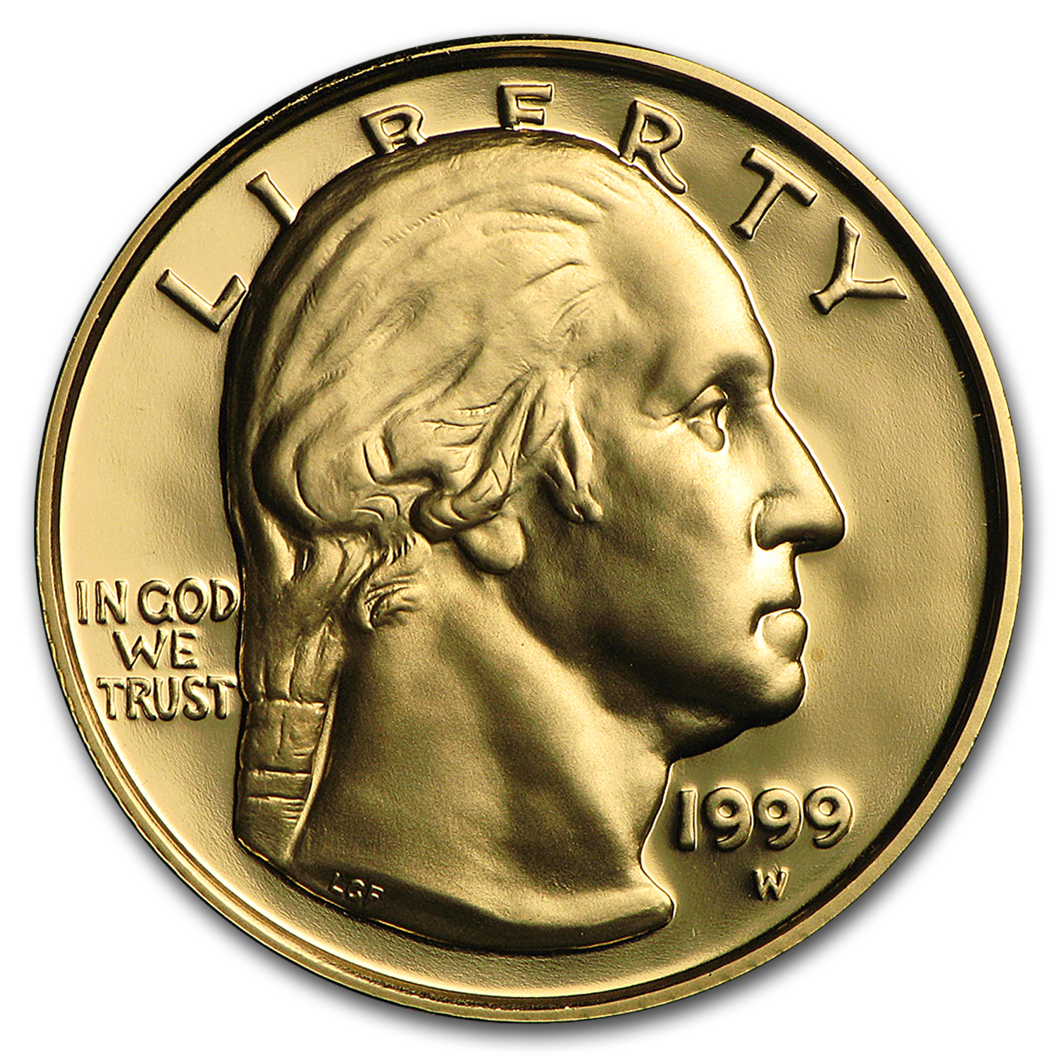 1999-W Gold $5 Commem George Washington Proof (w/Box & COA)