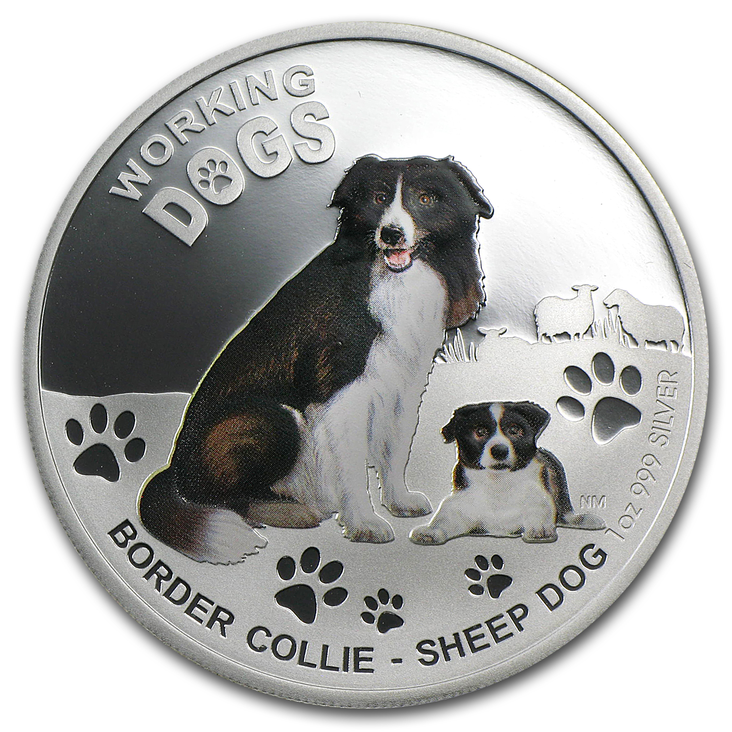 2011 Australia 1 oz Silver Working Dog Proof (Border Collie)