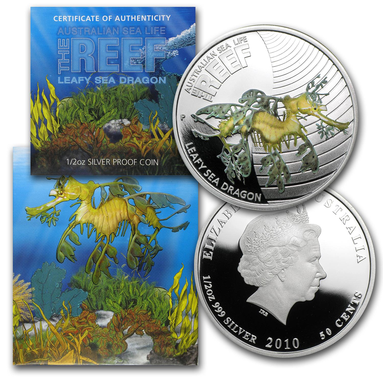 2009 10 Australia 5 Coin 1 2 Oz Silver Sea Life I Proof