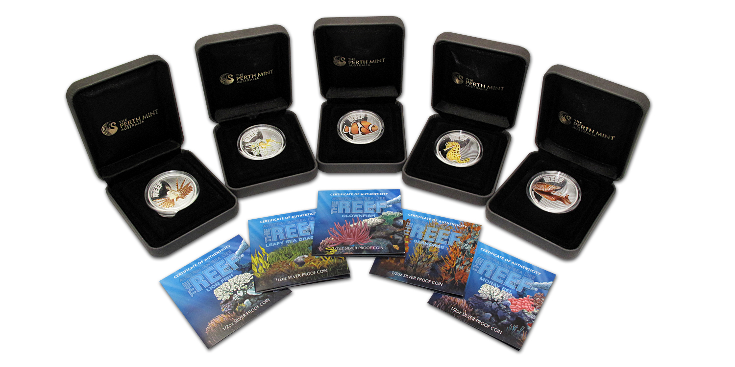 2009-10 Australia 5-Coin 1/2 oz Silver Sea Life I Proof Set