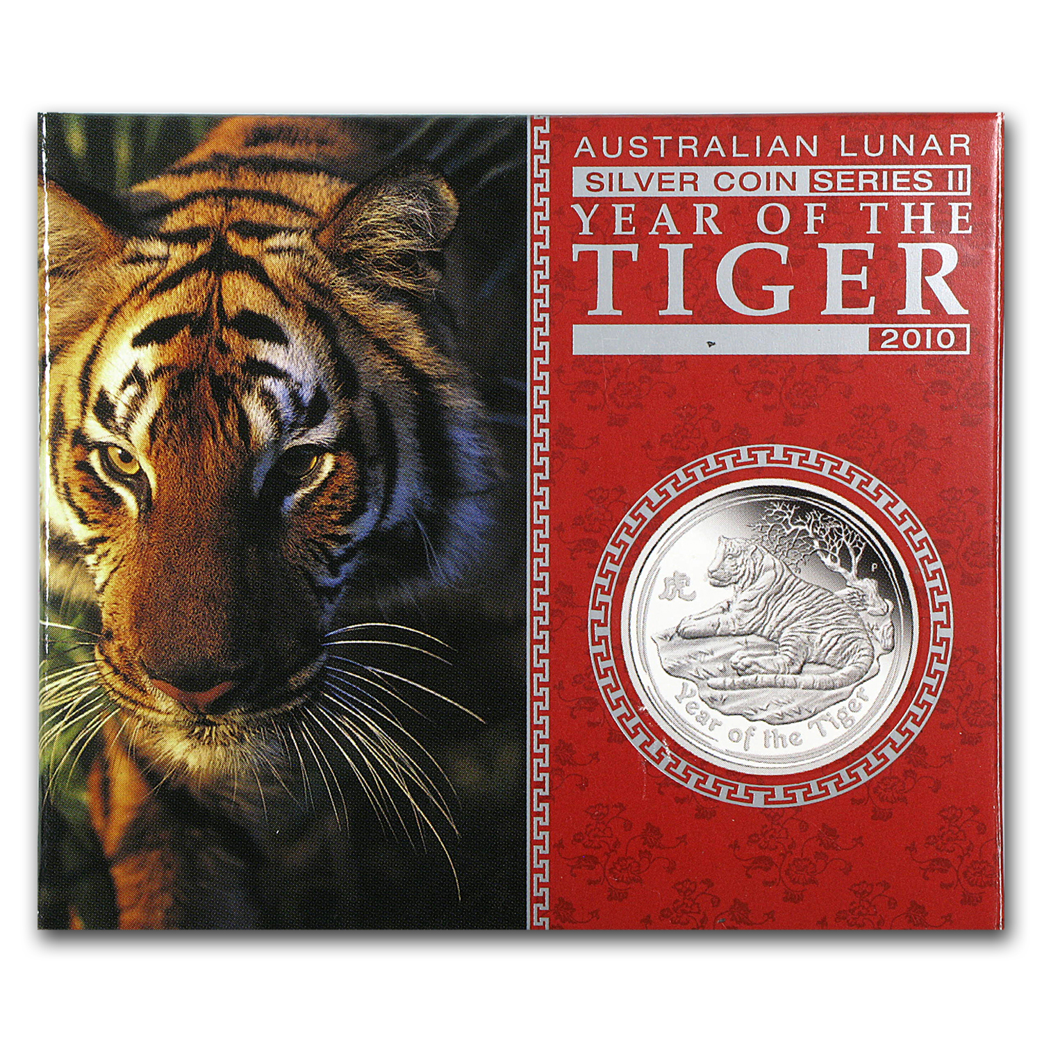 2010 1 oz Silver Australian Year of the Tiger Proof (Series II)