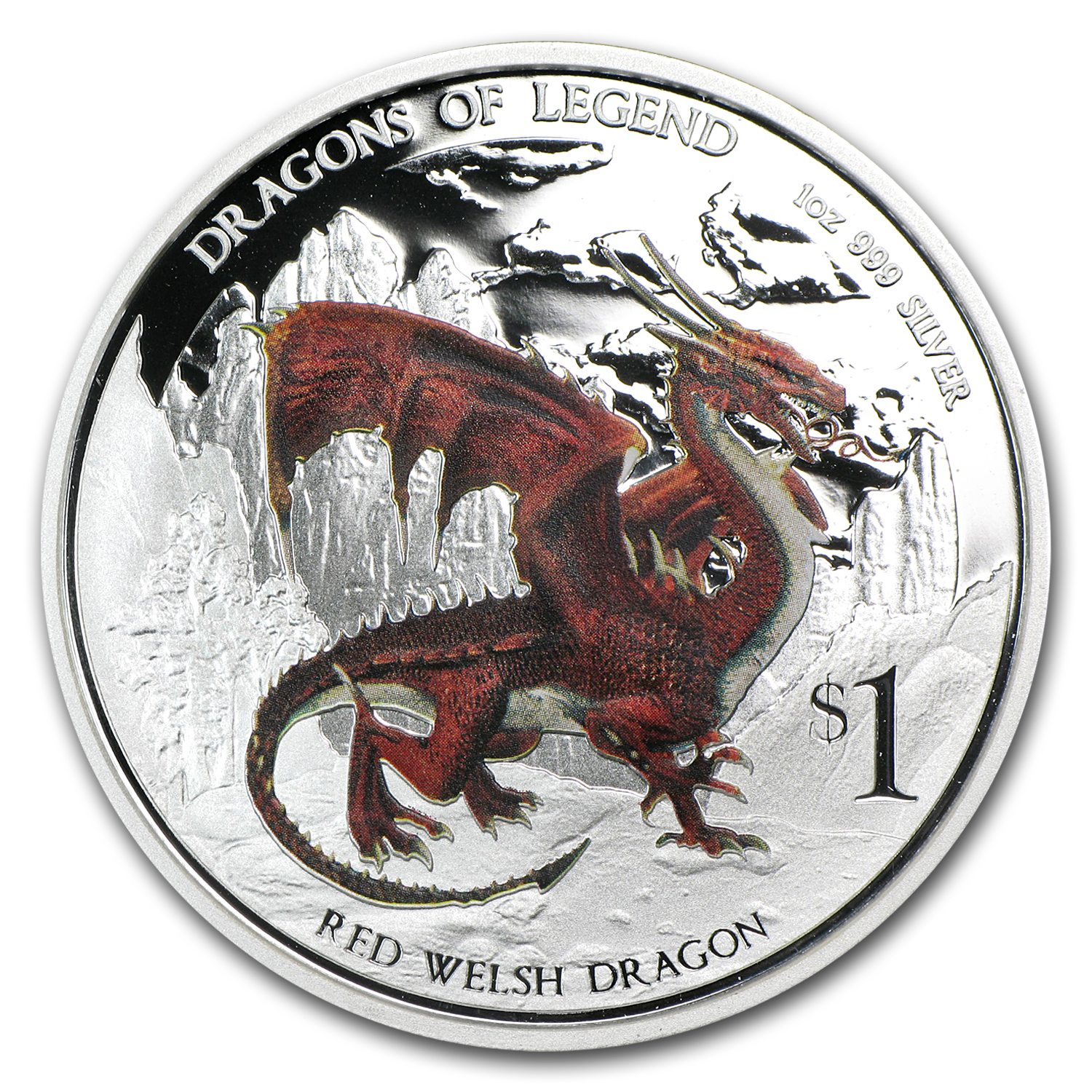 2012 1 oz Silver Dragons of Legend Proof (Red Welsh)