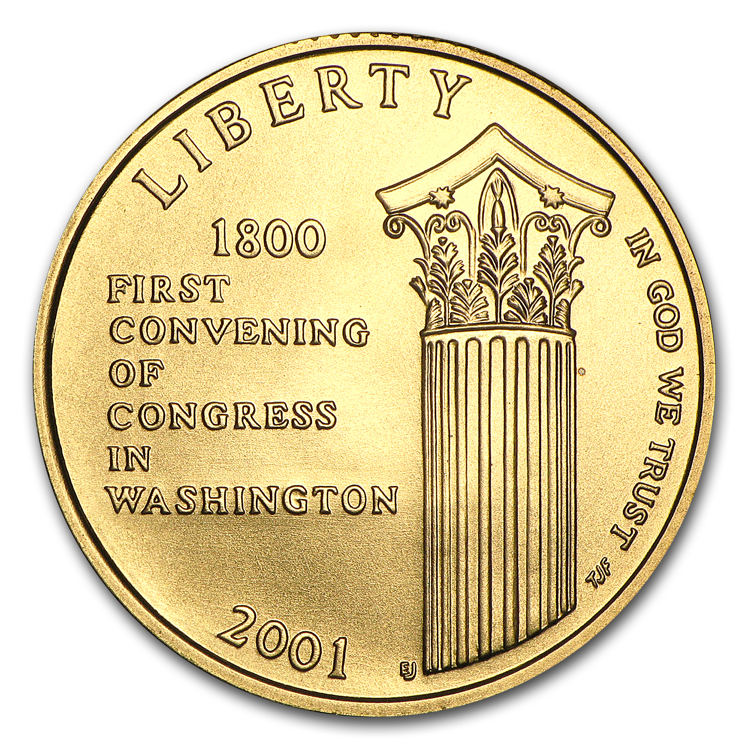 2001-W Gold $5 Commem Capitol Visitor Center BU (w/Box & COA)