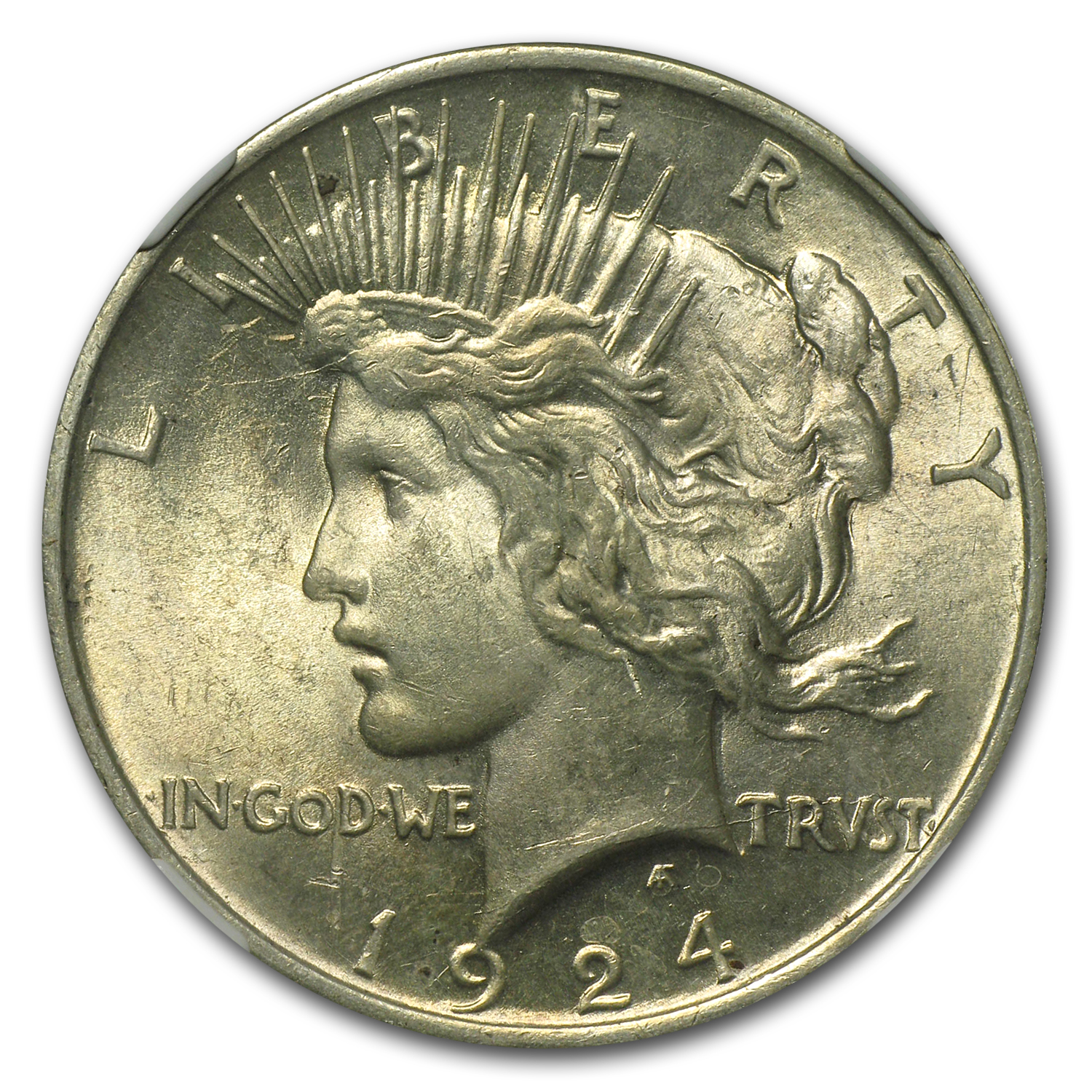 1924 Peace Dollar MS-61 NGC VAM-1A Bar D Top-50