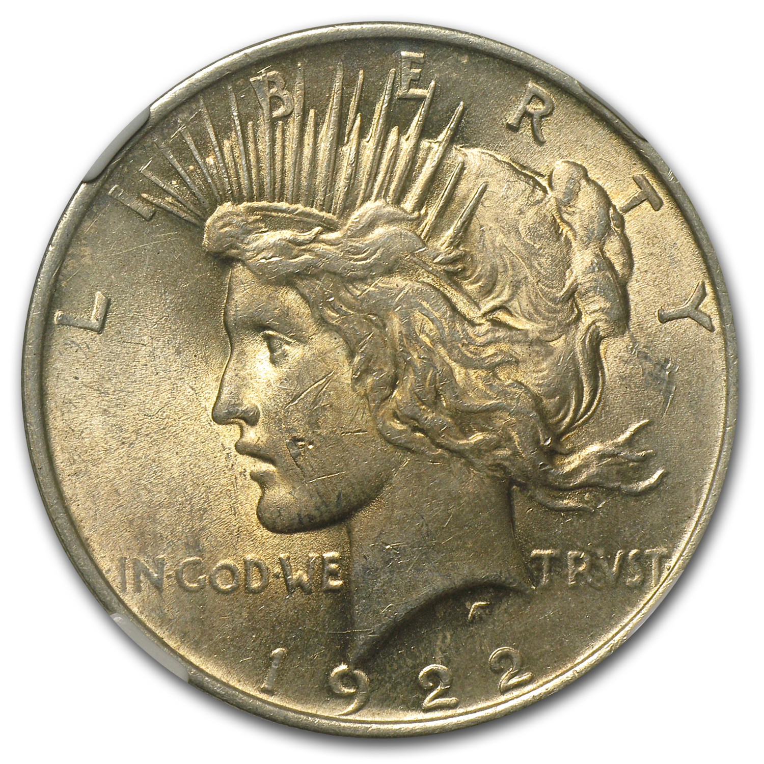 1922 Peace Dollar MS-61 NGC VAM-5A Scar Cheek LDS Top-50