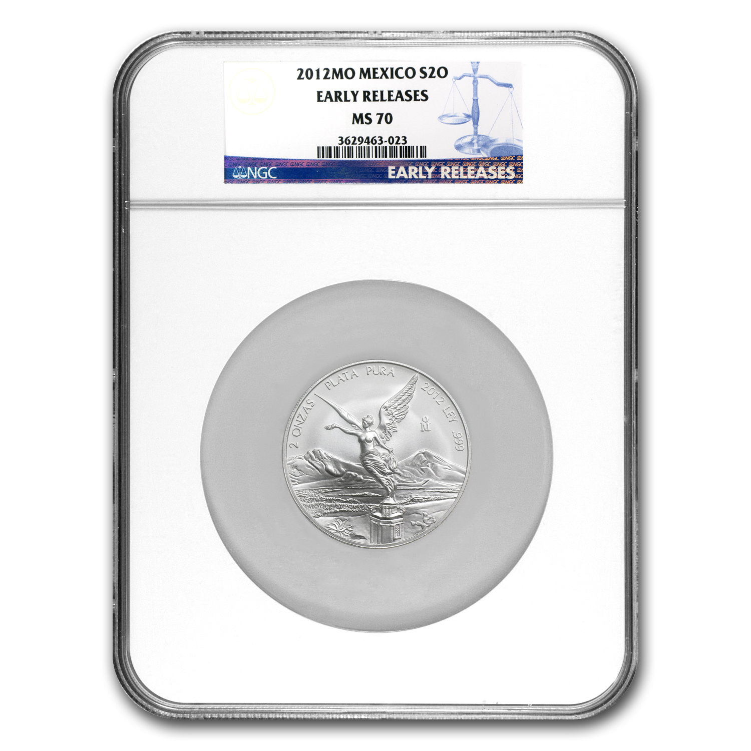 2012 2 oz Silver Libertad MS-70 NGC (ER) - Registry Set