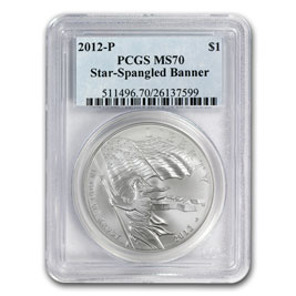 2012-P Star Spangled Banner $1 Silver Commem MS-70 PCGS