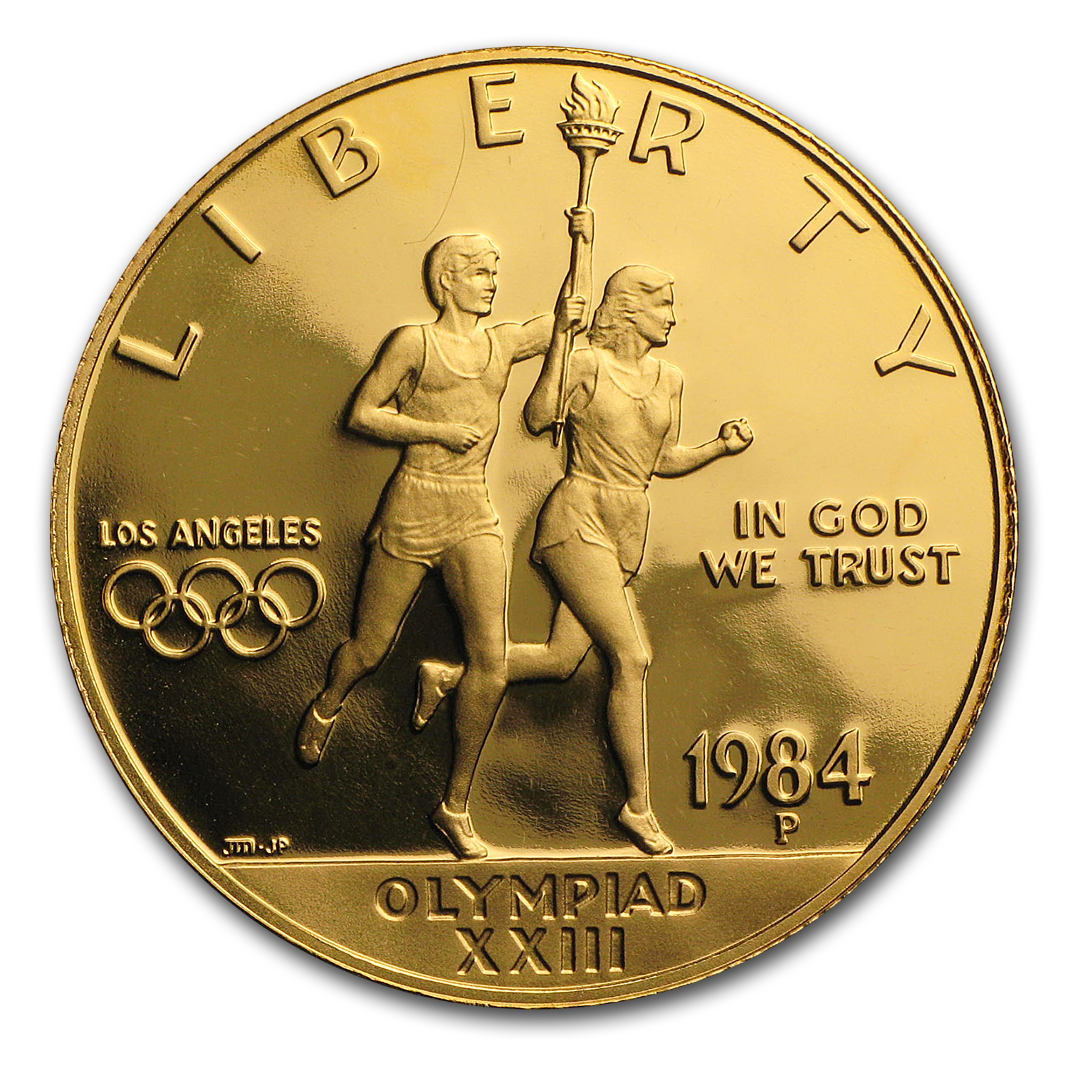 1984-P Gold $10 Commem Olympic Proof (w/Box & COA)