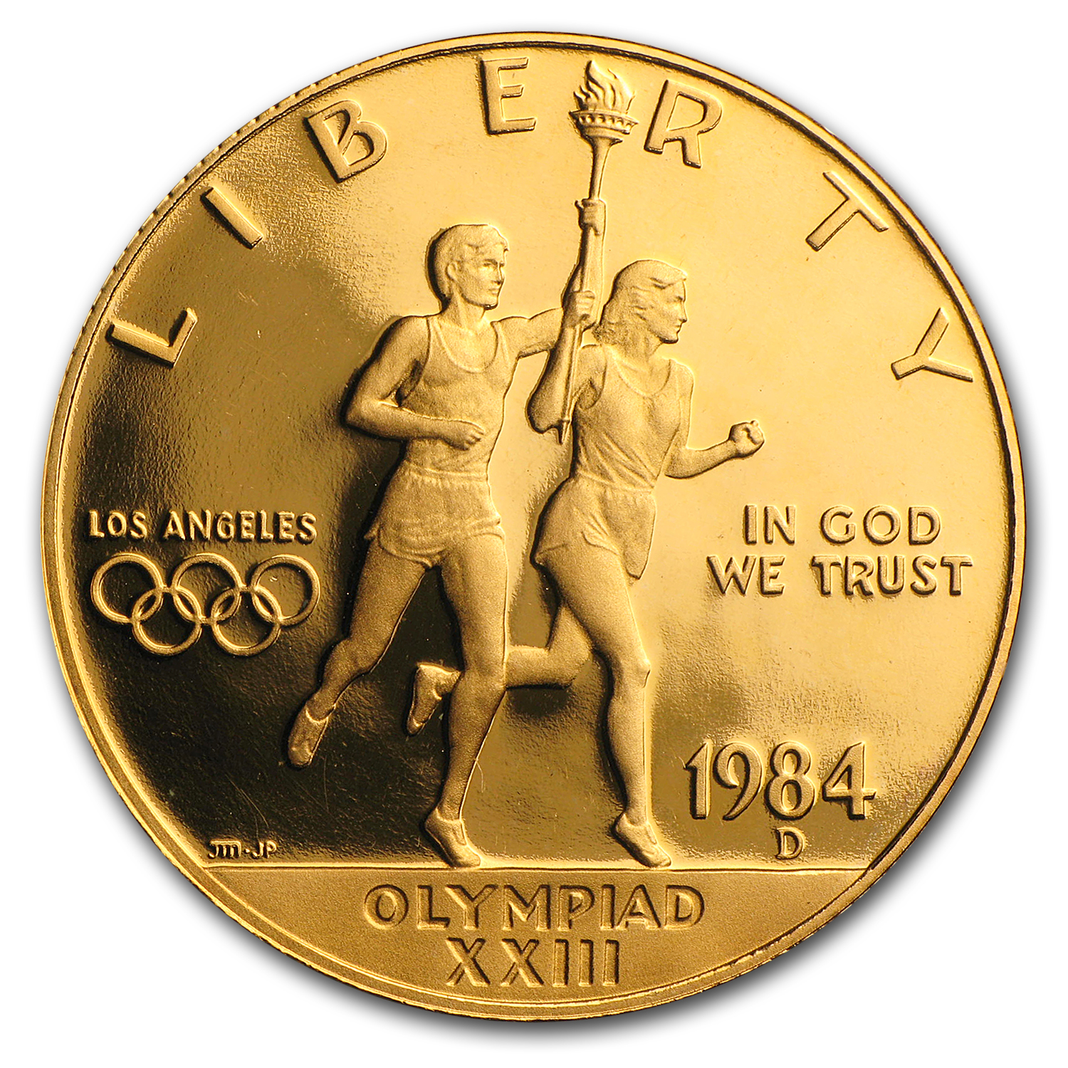 1984-D Gold $10 Commem Olympic Proof (w/Box & COA)