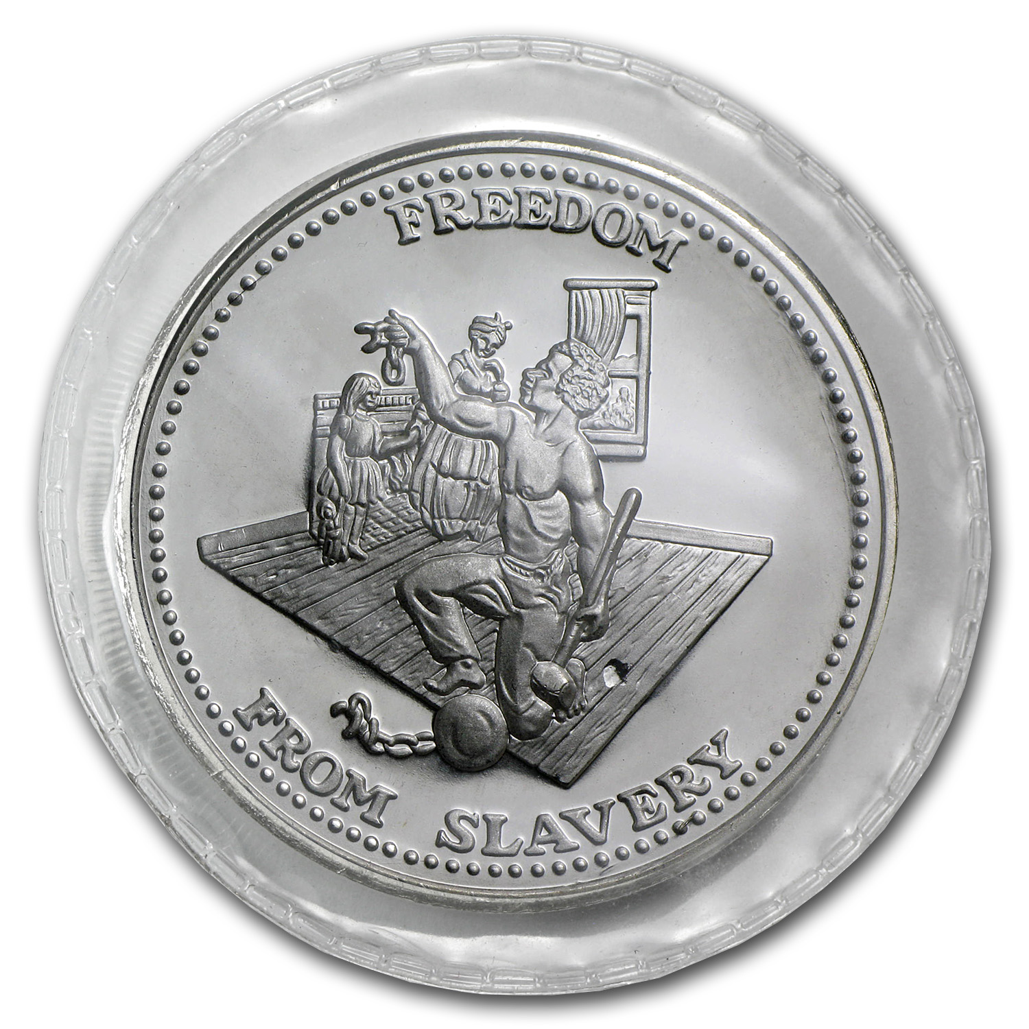 1 oz Silver Rnd - Johnson Matthey (Sealed, Freedom from Slavery)