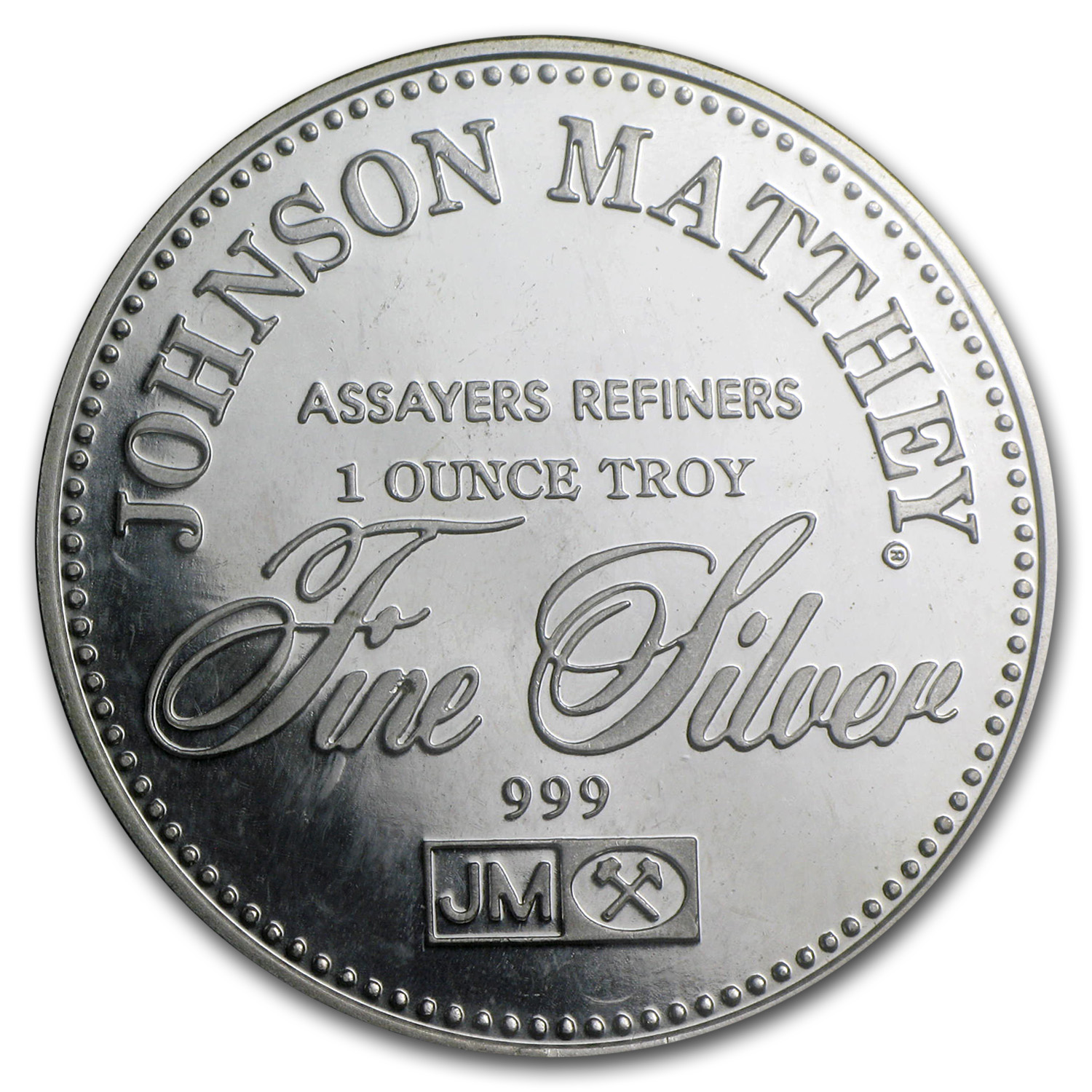 1 oz Silver Rnd - Johnson Matthey (Sealed, Freedom of Assembly)
