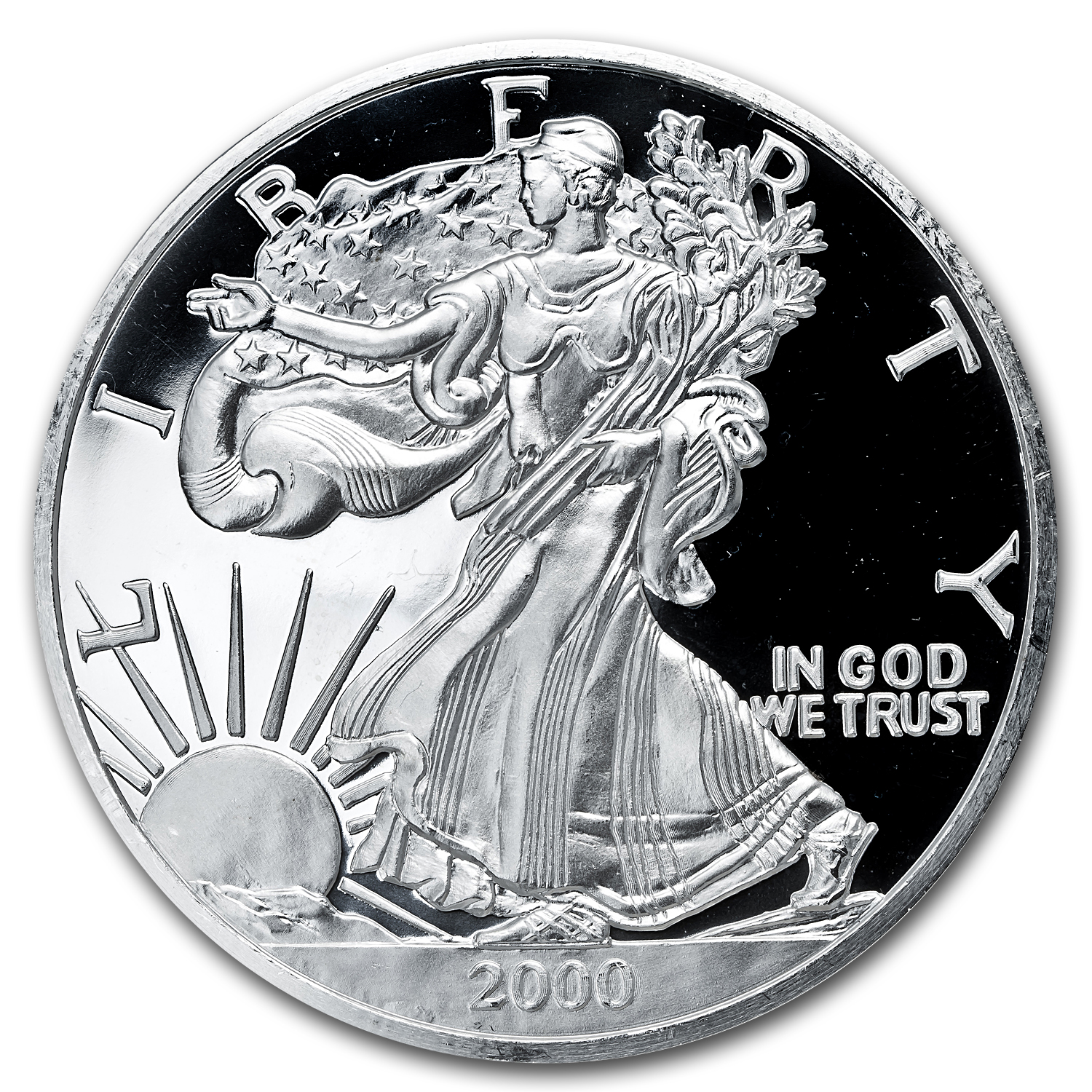 12 oz Silver Round - Silver American Eagle Prooflike