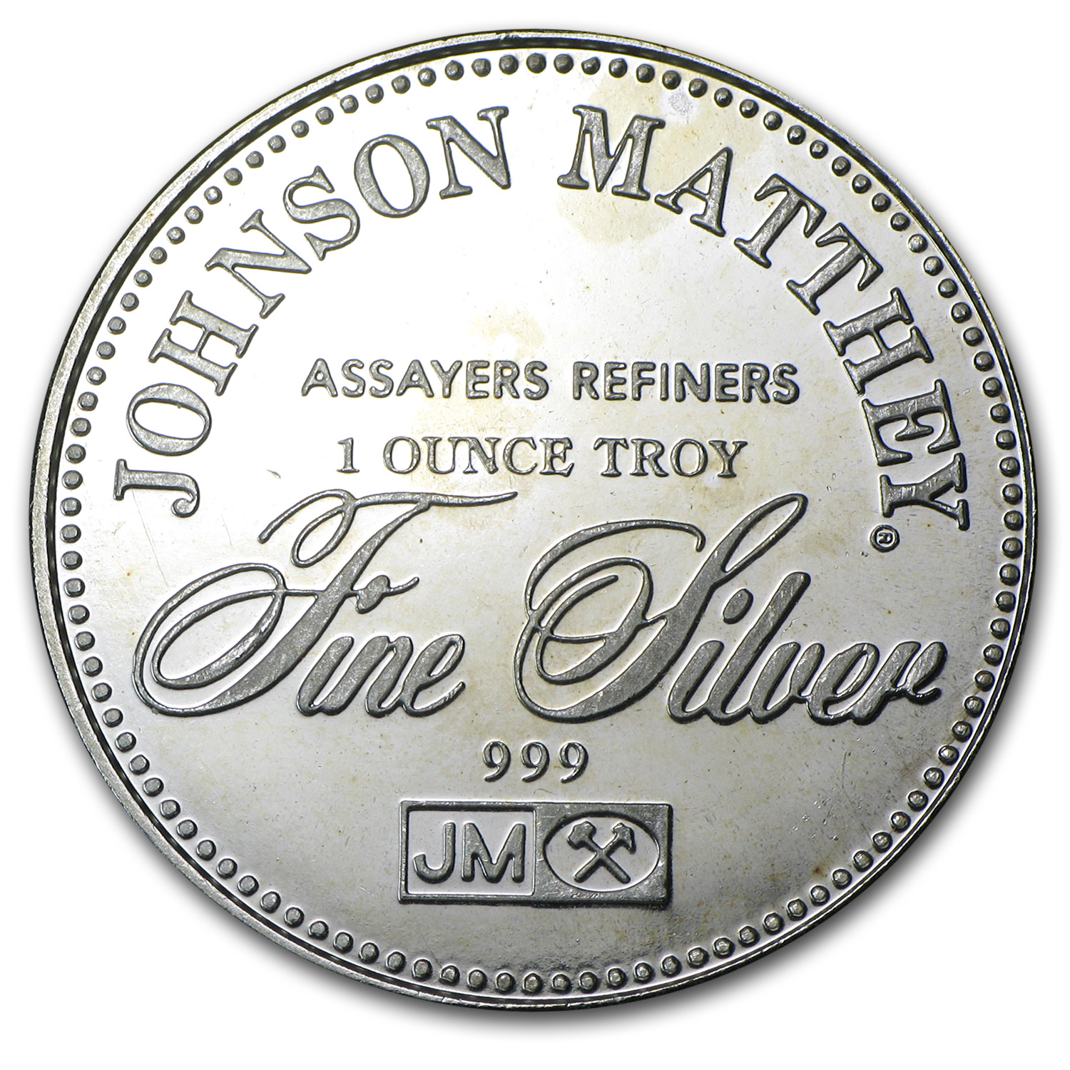 1 oz Silver Rounds - Johnson Matthey (Sealed/Right to Bear Arms)