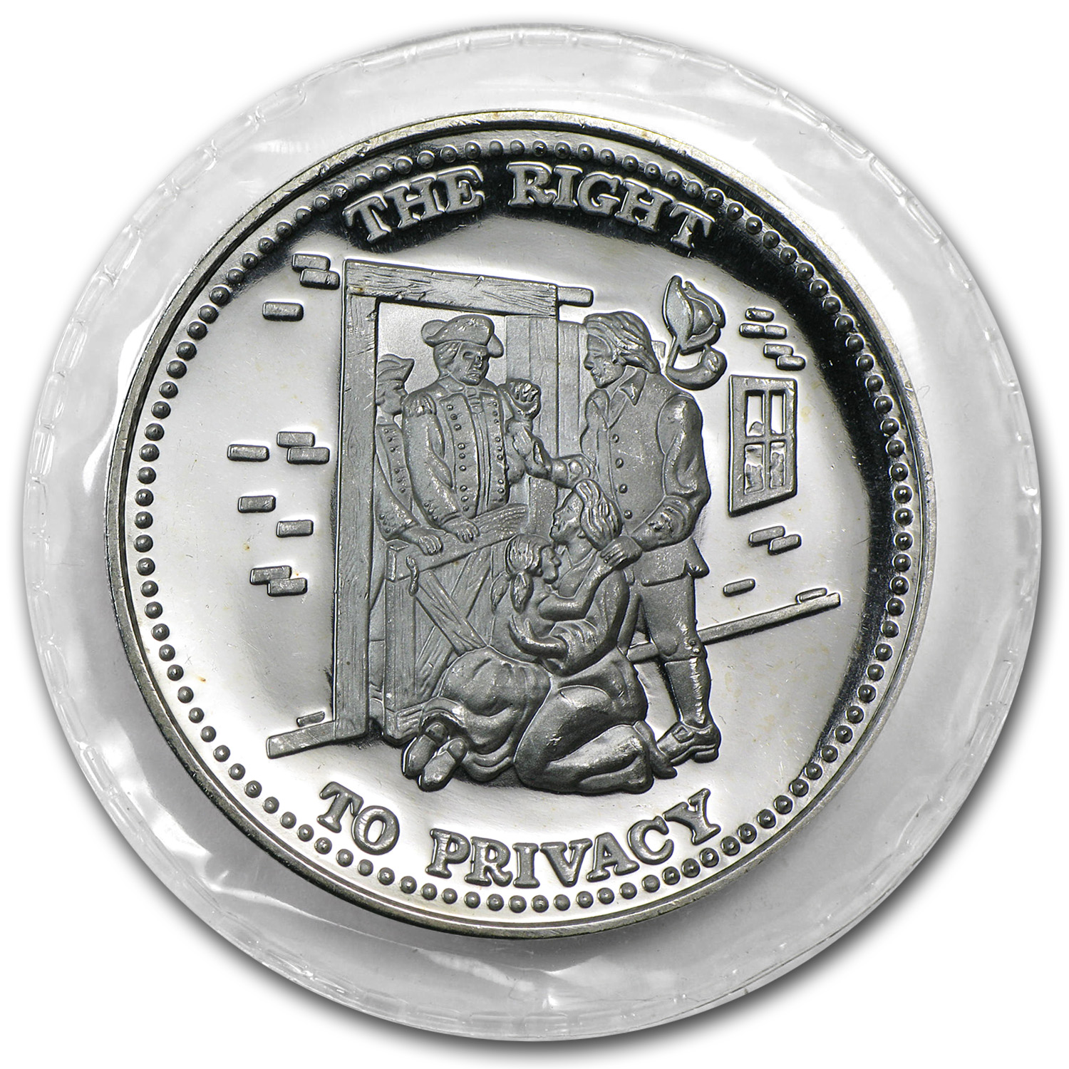 1 oz Silver Round - Johnson Matthey (Sealed, Right to Privacy)