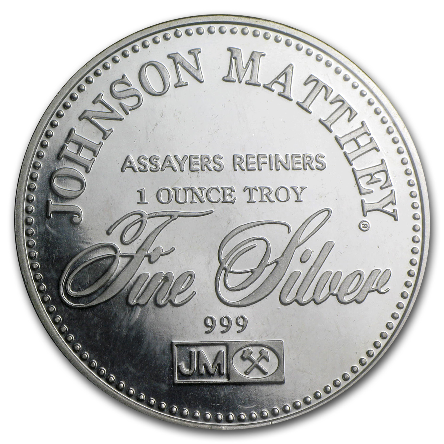 1 Oz Silver Round Johnson Matthey Sealed Trial By Jury