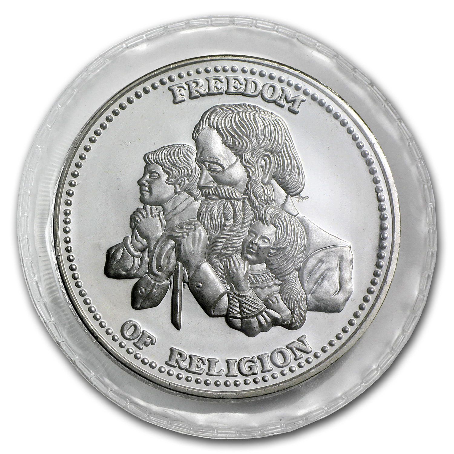 1 oz Silver Rnd - Johnson Matthey (Sealed, Freedom of Religion)