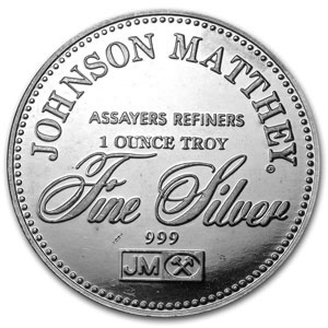 1 oz Silver Rounds - Johnson Matthey (Sealed/Freedom of Speech)