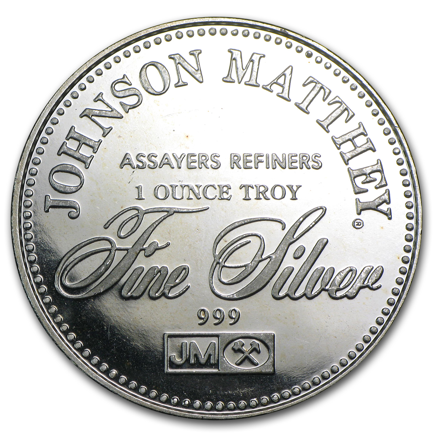 1 oz Silver Rounds - Johnson Matthey (Sealed/Right to Counsel)