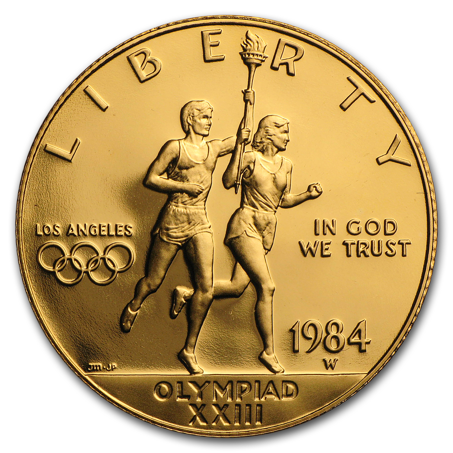 1984-W Gold $10 Commem Olympic Proof (w/Box & COA)