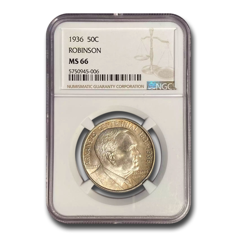 1936 Robinson-Arkansas Half Dollar MS-66 NGC
