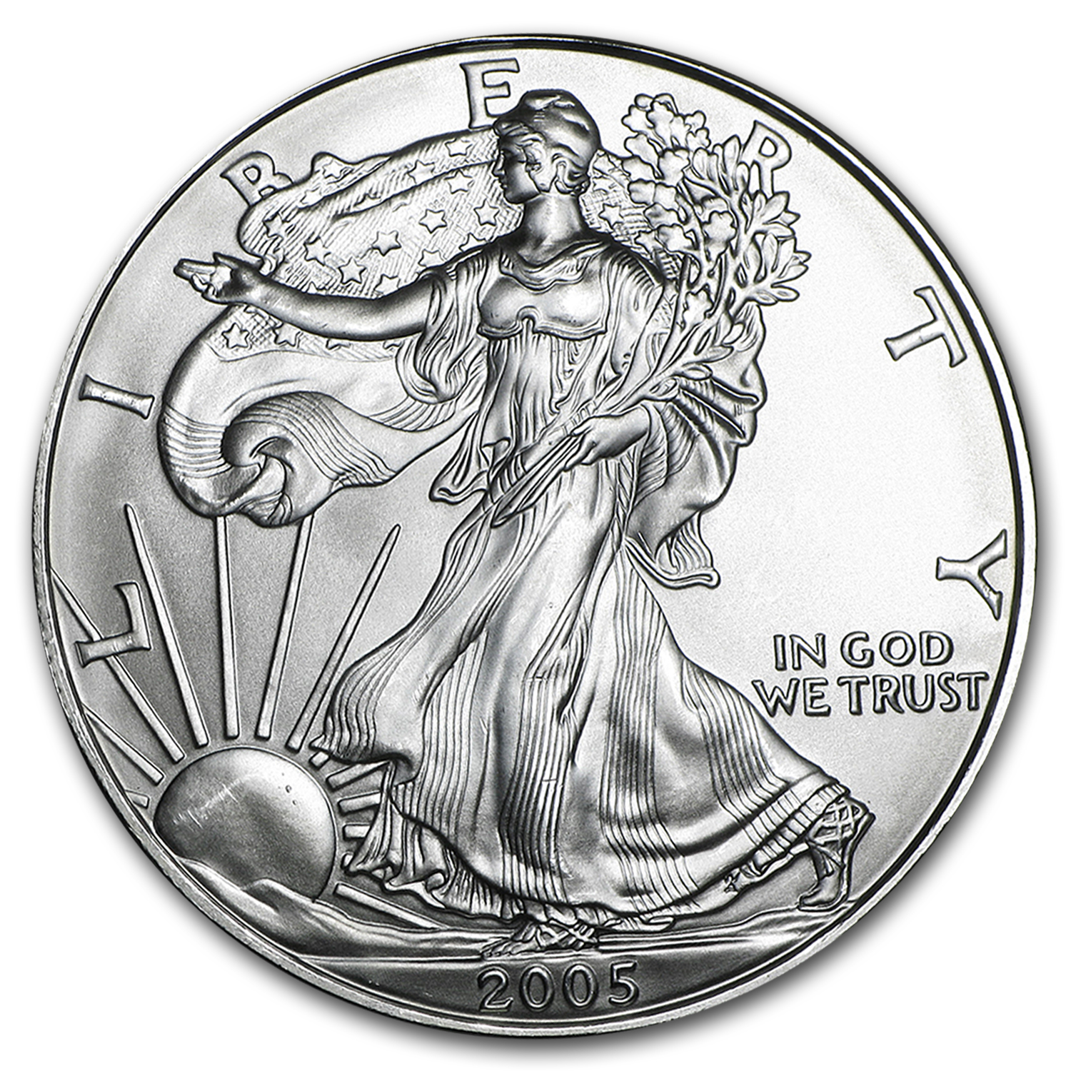 2005 1 oz Silver American Eagles (20-Coin MintDirect® Tube)