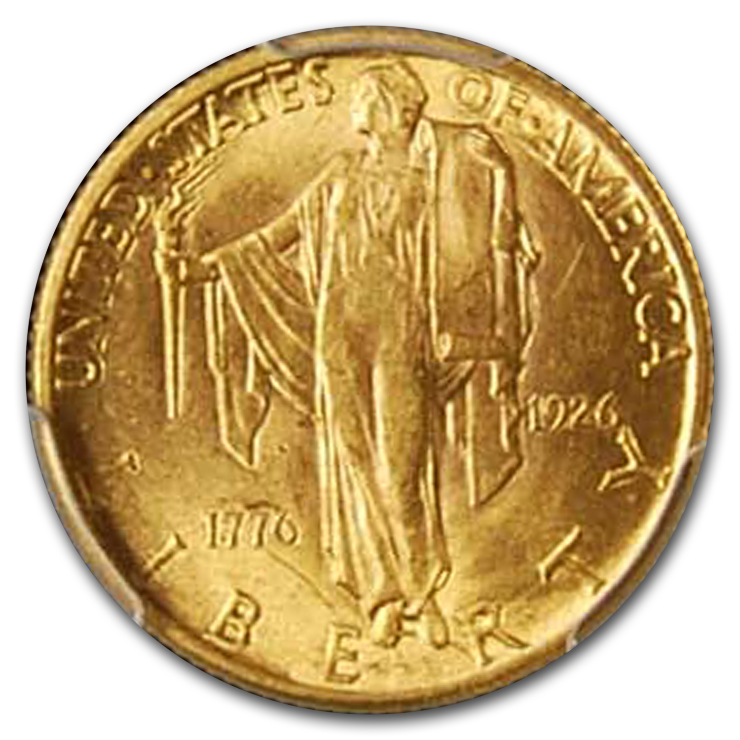 1926 $2.50 Gold America Sesquicentennial MS-63 PCGS
