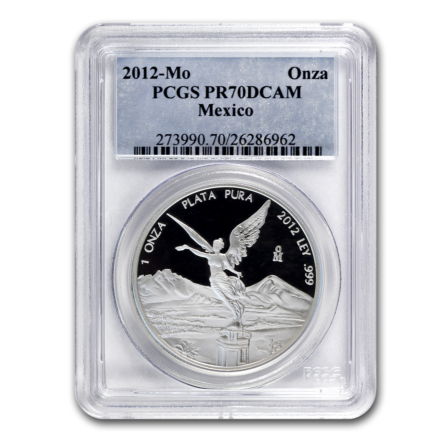 2012 Mexico 1 oz Proof Silver Libertad PR-70 PCGS