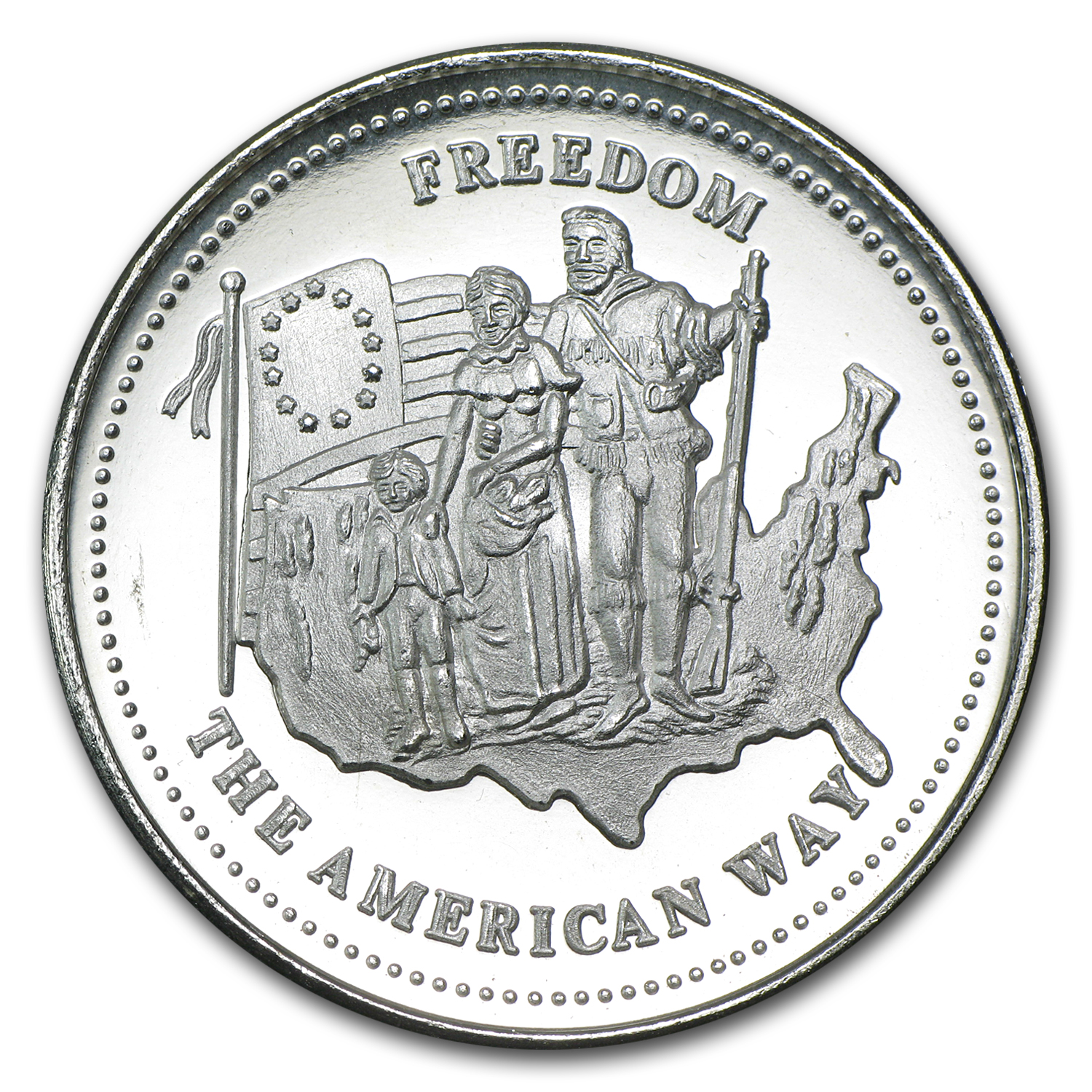 1 oz Silver Rounds - Johnson Matthey (Freedom/The American Way)