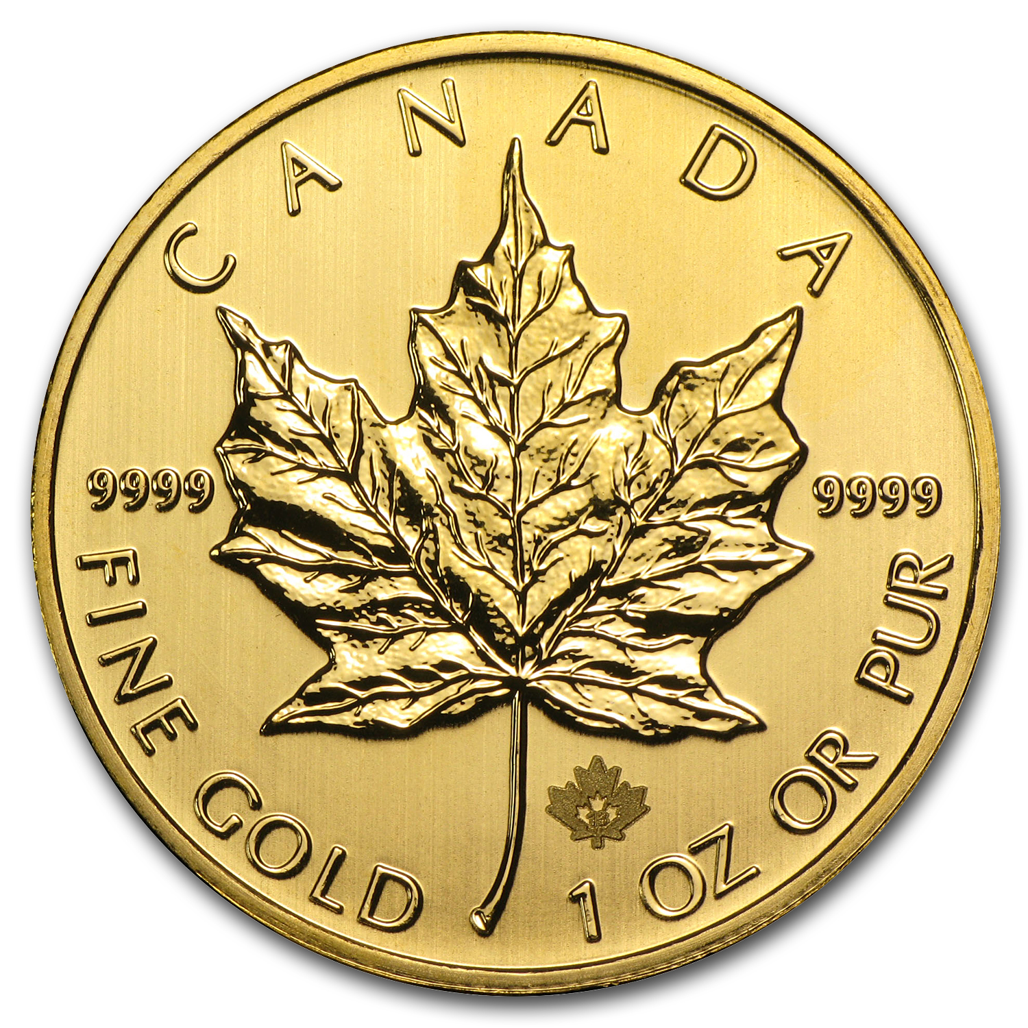 2013 1 oz Gold Canadian Maple Leaf BU