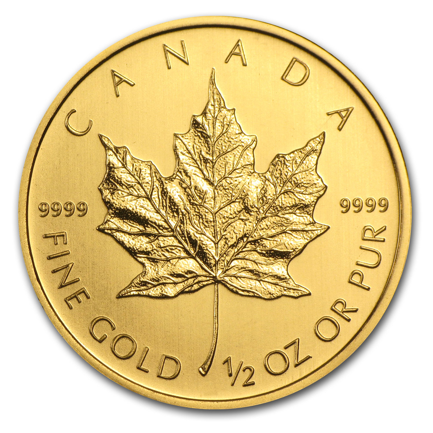 2013 1/2 oz Gold Canadian Maple Leaf BU