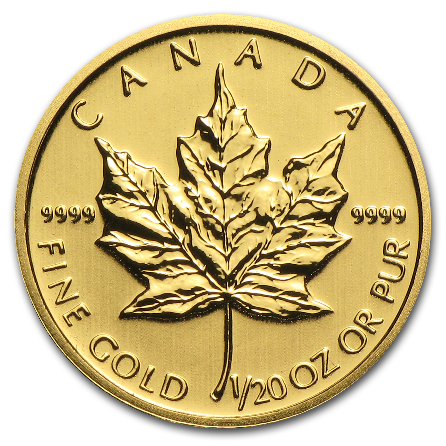 2013 1/20 oz Gold Canadian Maple Leaf BU