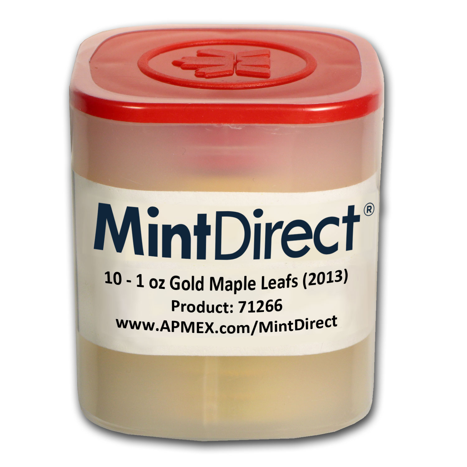 2013 Canada 1 oz Gold Maple Leafs (10-Coin MintDirect® Tube)