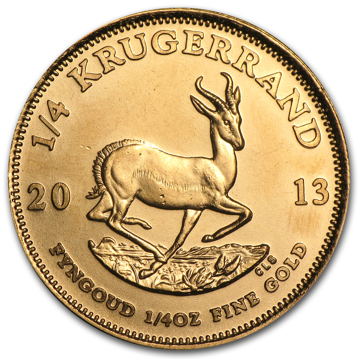 2013 South Africa 1/4 oz Gold Krugerrand