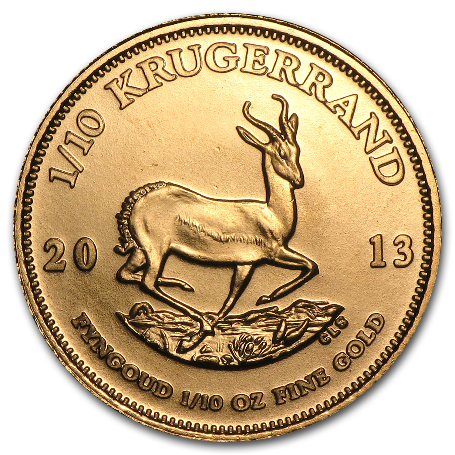 2013 1/10 oz Gold South African Krugerrand
