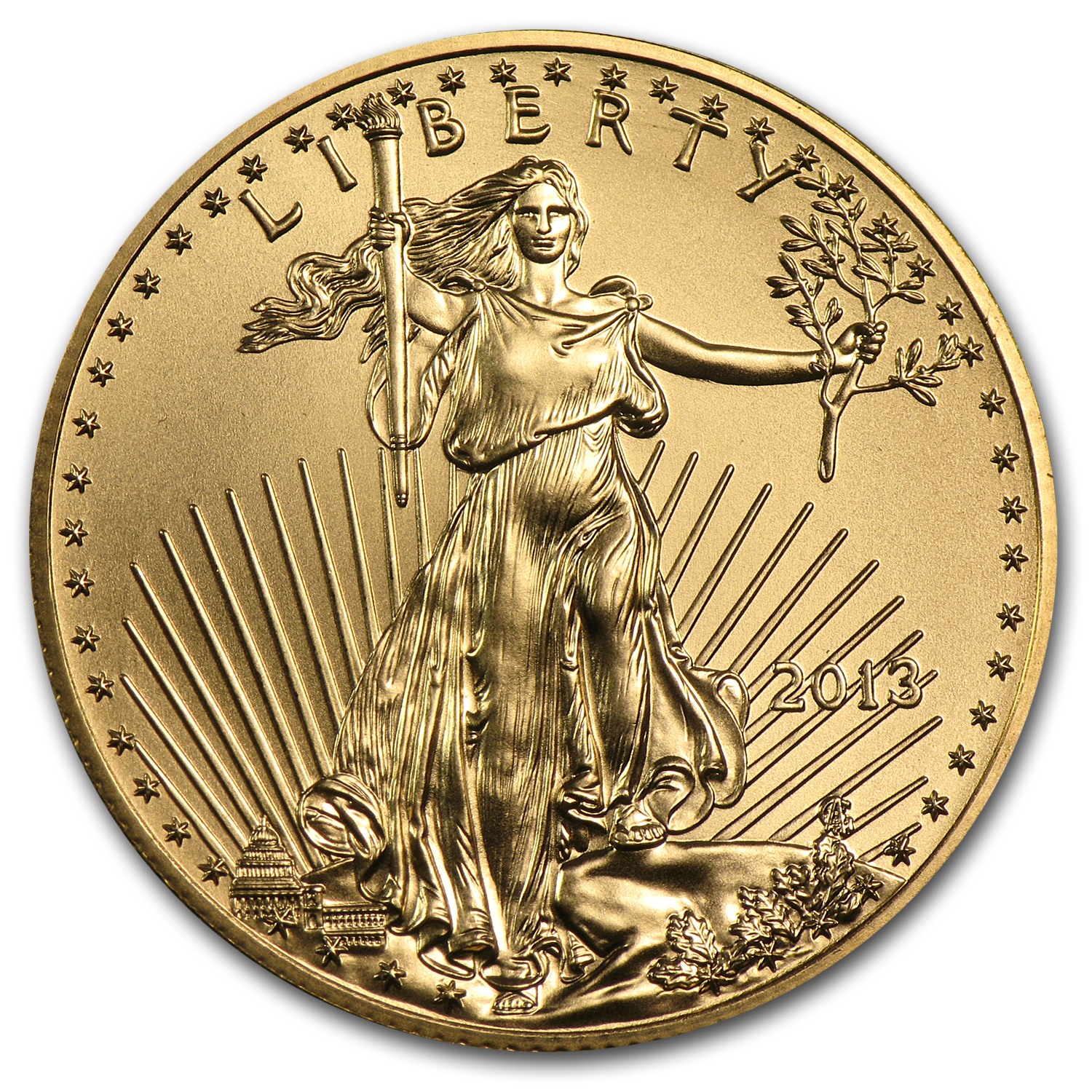 2013 1/2 oz Gold American Eagle BU