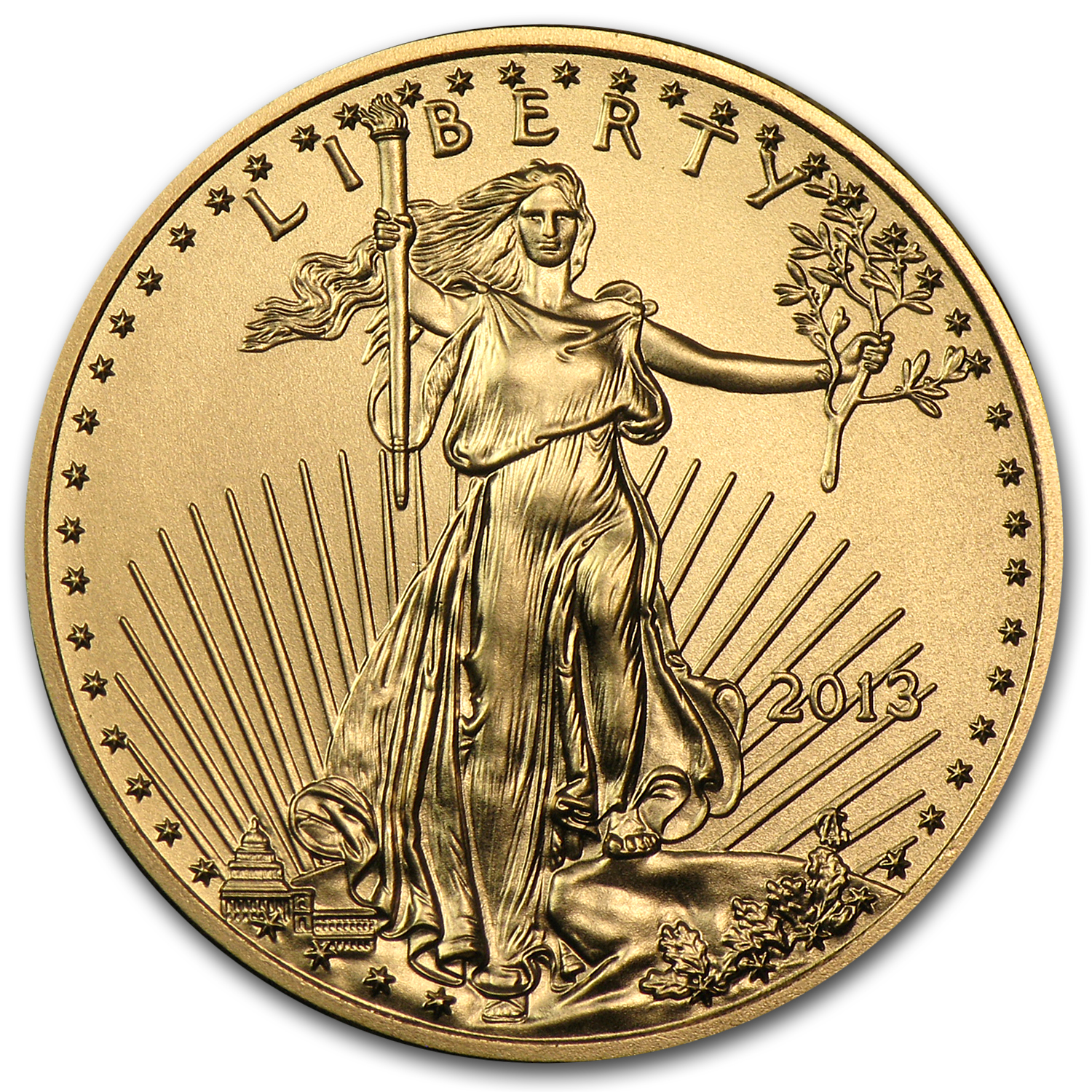 2013 1/4 oz Gold American Eagle BU